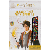 Harry Potter Valentines, with Pencils, 3+