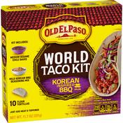 Old El Paso World Taco Kit Korean Inspired BBQ, 10 Count