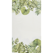 CR Gibson Guest/Dinner Napkins, Tropical Leaf, 3-Ply