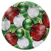 Party Creations Plates, Premium Strength, Bright Baubles, 6-7/8 inch