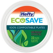 Hefty 100% Compostable 8.75 in. Plates
