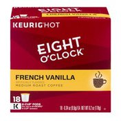 Eight O'Clock Coffee Eight O'Clock Keurig Hot French Vanilla Medium Roast Coffee K-Cup Pods - 18 CT
