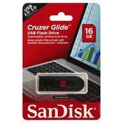 San Disk Flash Drive, USB, Cruzer Glide, 16 GB