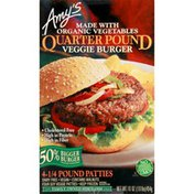 Amy's Quarter Pound Veggie Burger - 4 CT