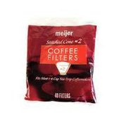 Meijer Stiched Cone Coffee Filters