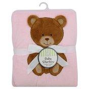 Baby Starters Blanket, Cuddly, Pink Bear