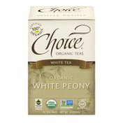 Choice Organic Teas White Tea Organic White Peony Tea Bags - 16 CT