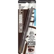 Maybelline Gel Pencil Liner, Waterproof, Smooth Walnut 911