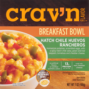 Crav'n Flavor Breakfast Bowl, Hatch Chile Huevos Rancheros