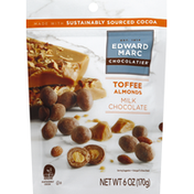 Edward Marc Chocolatier Milk Chocolate, Toffee Almonds