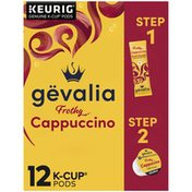 Gevalia 2-Step Cappuccino Espresso K-Cup® Coffee Pods & Froth Packets Kit