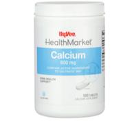 Hy-Vee Healthmarket, Calcium 600 Mg Bone Health Support Calcium Supplement Tablets