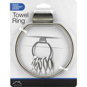 Spectrum Towel Ring, Over Cabinet Door, Brushed Nickel