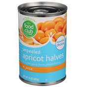 Food Club Essential Choice Unpeeled Apricot Halves In A Pear Juice From Concentrate