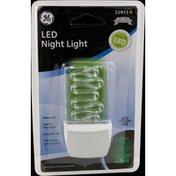 GE Night Light, LED Green Lombard Plastic Always On