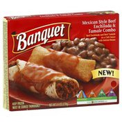 Banquet Mexican Style Beef Enchilada & Tamale Combo