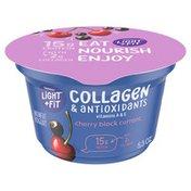 Light + Fit Nonfat Cherry Black Currant Icelandic Style Yogurt with Collagen & Antioxidants