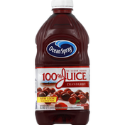 Ocean Spray 100% Juice, Cranberry, No Sugar Added