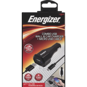 Energizer Combo USB, Wall & Car Charger + Micro USB Cable, Pre-Priced $19.99, Box