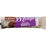 El Monterey Burrito, Beef & Bean, XX Large!