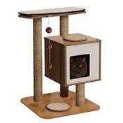 Vesper By Hagen Walnut V Base Scratching Tree Cat Furniture