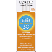 L'Oreal Sunscreen, Silky Sheer Face Lotion, Broad Spectrum SPF 30
