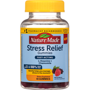 Nature Made Stress Relief, Gummies, Mixed Berry