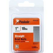 Paslode Brad Nails, Galvanized, Straight, 25mm