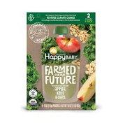 Happy Baby Apples, Kale & Oats
