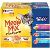 Meow Mix Pate Toppers Seafood Medley Variety Pack Wet Cat Food