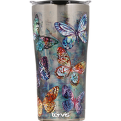 Tervis Tumbler, with Lid, Butterfly Glow, Stainless, 20 Ounce