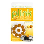 Plink Citrus Orange Garbage Disposer Cleaner and Deodorizer - 10 PK