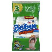 Bebin Super Diaper, Unisex, Large