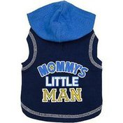 Simply She Wag-a-tude Mommy's Little Man Small Blue Dog Hoodie