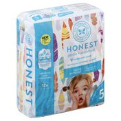 The Honest Company Diapers, Size 5 (27+ Pounds), Painted Feathers