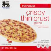 Food Lion Pizza, Thin Crust, Crispy, Pepperoni, Box