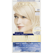 Excellence Permanent Haircolor, High-Lift Extra Light Natural Ash Blonde 01