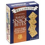 Wellington Snack Bites, Baked, Seven Grain Honey & Flax