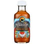 Aqua ViTea Strawberry Sage, Probiotic, Kombucha