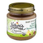 Nature's Promise Organic Baby Food Apple Banana Strawberry 6m+