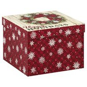 Lindy Bowman Box, Square, Happy Holidays, Size 5