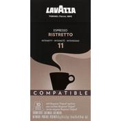 Lavazza Coffee, Ground, Intensity 11, Espresso Ristretto, Capsules