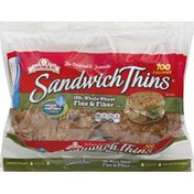 Brownberry/Arnold/Oroweat Sandwich Thins Whole Wheat, Flax & Fiber Rolls