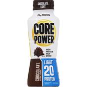 Core Power Milk Shake, High Protein, Light, Chocolate