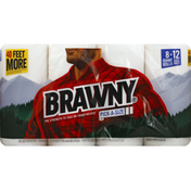 Brawny Paper Towels, Pick-A-Size, Giant Roll, 2-Ply