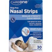 CareOne Drug Free Nasal Strips Regular Strength Medium Clear