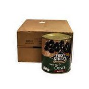 First Street Medium Pitted Olives, Case