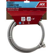 Ace Bakery Faucet Connector, Stainless Steel, Braided, 36 Inches