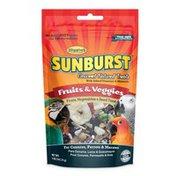 Higgins Sunburst Gourmet Natural Treats Fruits, Veggies & Sead Treat for Conures Parrots & Macaws