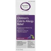 Signature Care Cold & Allergy Relief, Children's, Grape Flavor